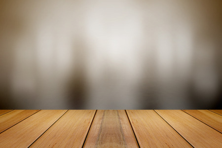 tones: Wooden board with Abstract background in gray tones.