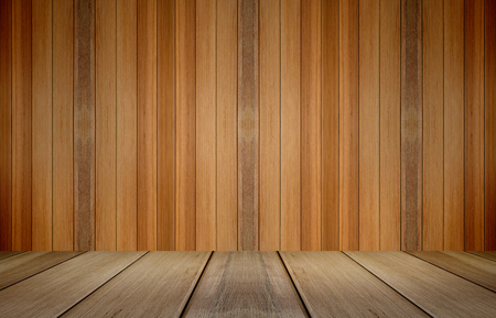 advertize: Wooden table and wall background. Its display for present product.
