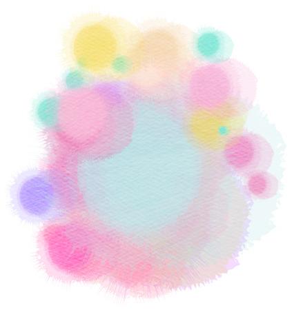 original single: Abstract watercolor drop. Digital art painting. Stock Photo