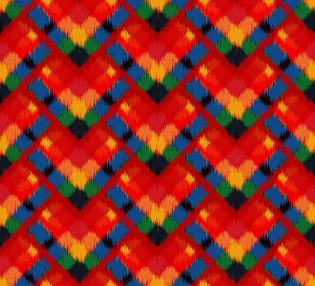 lamina: Ikat Seamless Pattern Design for Fabric.