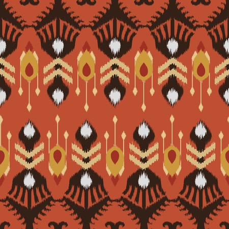 천, 커튼, 섬유 디자인, 벽지, 표면 질감 배경으로 Ikat 원활한 패턴. 스톡 콘텐츠 - 84471348