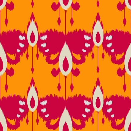 천, 커튼, 섬유 디자인, 벽지, 표면 질감 배경으로 Ikat 원활한 패턴. 스톡 콘텐츠 - 84471352