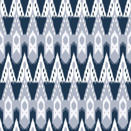 천, 커튼, 섬유 디자인, 침대 리넨, 벽지, 표면 질감 배경으로 Ikat 원활한 패턴.