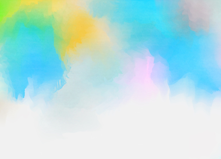Abstract colorful pastel watercolor with copy space for place your design or invitation card, web background, cell phone case. Digital art painting. Stock Photo