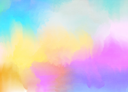rainbow colors: Abstract colorful pastel watercolor with copy space