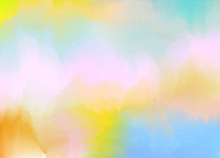 rainbow: Abstract colorful pastel watercolor with copy space for place your design or invitation card, web background, cell phone case. Digital art painting. Stock Photo