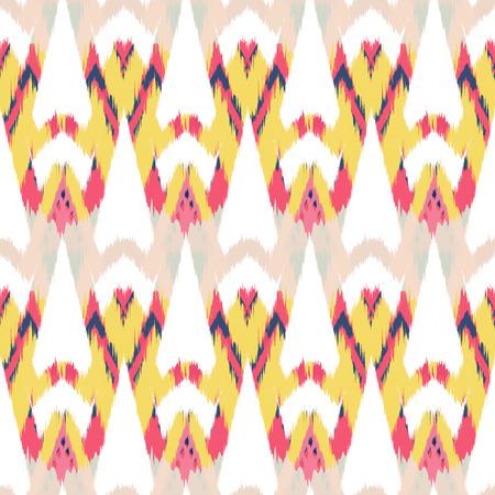 천, 커튼, 섬유 디자인, 벽지, 표면 질감 배경으로 Ikat 원활한 패턴. 스톡 콘텐츠 - 87254259