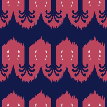 천, 커튼, 섬유 디자인, 벽지, 표면 질감 배경으로 Ikat 원활한 패턴. 스톡 콘텐츠 - 88260359