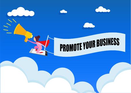 Vlakke stijl mobiele advertentiepictogrammen. Bedrijfsconcept. Online winkelen. Vector illustratie promoot uw bedrijf. Vector Illustratie