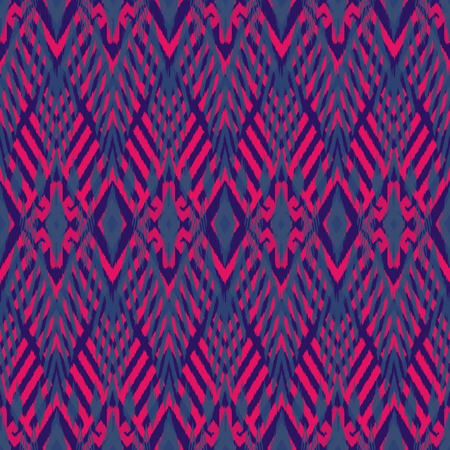 Ikat seamless pattern as cloth, curtain, textile design, wallpaper, surface texture background. Stock Photo