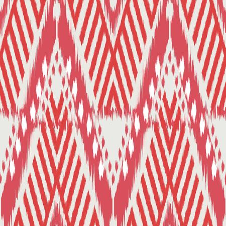 천, 커튼, 섬유 디자인, 벽지, 표면 질감 배경으로 Ikat 원활한 패턴. 스톡 콘텐츠 - 91939075