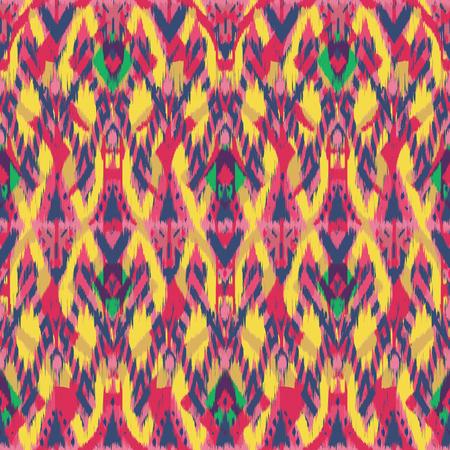 천, 커튼, 섬유 디자인, 벽지, 표면 질감 배경으로 Ikat 원활한 패턴. 스톡 콘텐츠 - 91941554