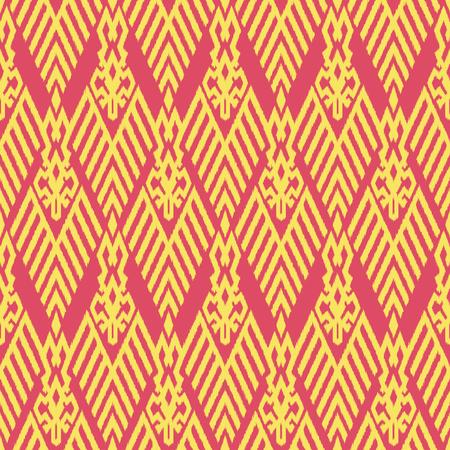 천, 커튼, 섬유 디자인, 벽지, 표면 질감 배경으로 Ikat 원활한 패턴. 스톡 콘텐츠 - 91941555