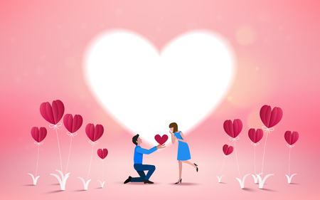 Will you marry me invitation card VectorIllustrator. Love concept. Happy valentines day.