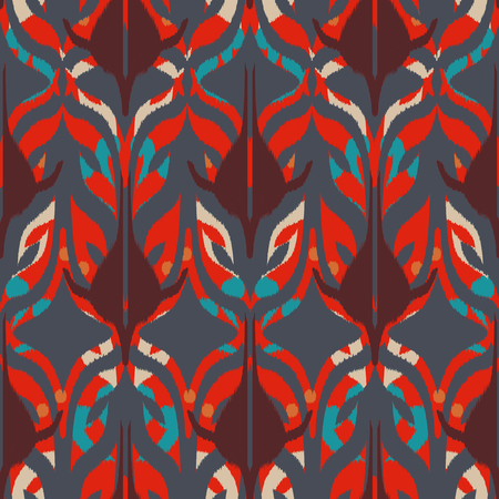 Ikat seamless pattern  as cloth, curtain, textile design, wallpaper, surface texture background. 스톡 콘텐츠 - 102988522