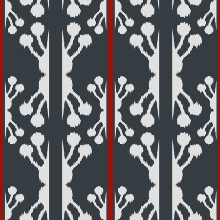Ikat seamless pattern  as cloth, curtain, textile design, wallpaper, surface texture background. 스톡 콘텐츠 - 103043502