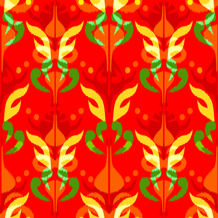 Ikat seamless pattern  as cloth, curtain, textile design, wallpaper, surface texture background. 스톡 콘텐츠 - 104722854