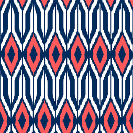 Ikat seamless pattern  as cloth, curtain, textile design, wallpaper, surface texture background. 스톡 콘텐츠 - 104722935