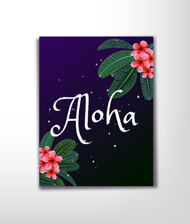 Pink Plumaria flower with copy space, Summertime. Happy holidays. Invitation, Wedding card.