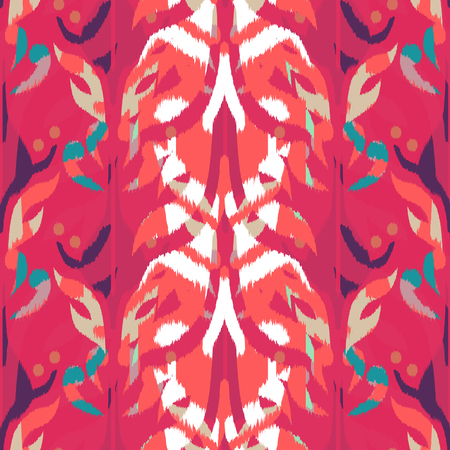 Ikat seamless pattern  as cloth, curtain, textile design, wallpaper, surface texture background. 스톡 콘텐츠 - 107647787