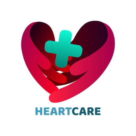 Heart care logo 일러스트