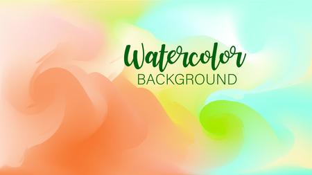 Pastel watercolor backdrop.  Fashion background. Watercolor brush strokes. Creative illustration. Artistic color palette. Vector illustration Ilustração