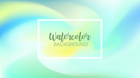 Pastel watercolor backdrop.  Fashion background. Watercolor brush strokes. Creative illustration. Artistic color palette. Vector illustration Illustration