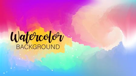 Pastel watercolor backdrop.  Fashion background. Watercolor brush strokes. Creative illustration. Artistic color palette. Vector illustration Illustration