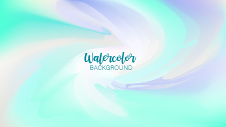Pastel watercolor backdrop.  Fashion background. Watercolor brush strokes. Creative illustration. Artistic color palette. Vector illustration Ilustração