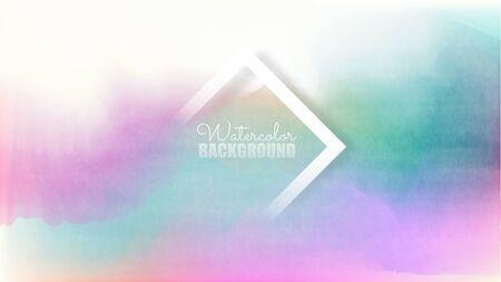 Pastel watercolor backdrop.  Fashion background. Watercolor brush strokes. Creative illustration. Artistic color palette. Vector illustration. Fluid Gradient Cover. Colorful Pastel.