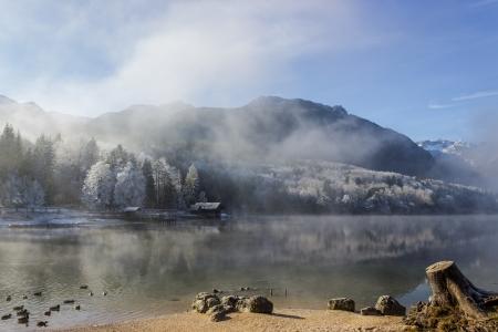 bohinj: Bohinj lake,slovenia,europe