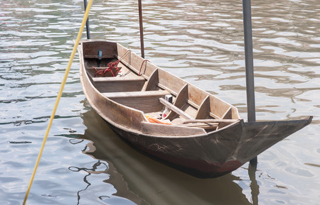row boat: old wooden row boat
