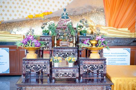 buddhism prayer belief: Buddha Images in Thailand Stock Photo