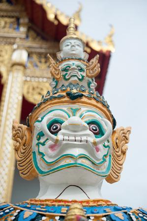 a cudgel: Giant stand around pagoda of thailand Stock Photo