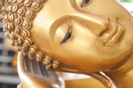 Buddha face and Buddha head in Asia Thailand