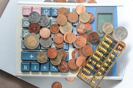 smacker: calculator coin bill cash smacker of Thailand