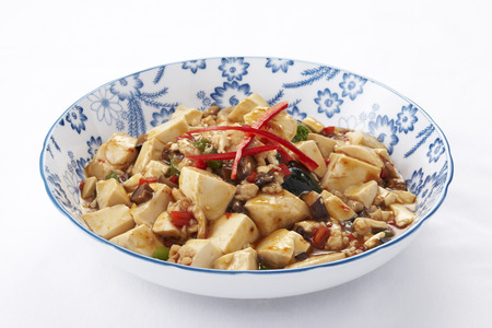 doufu: mapo tofu,a popular Chinese dish from the Sichuan  Szechuan  province Stock Photo