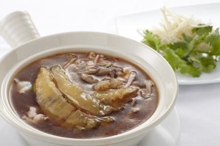 Shark fin soup,close up Фото со стока