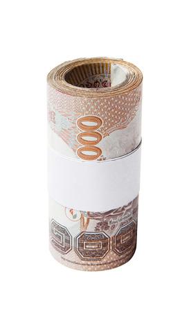 Thailand money roll photo