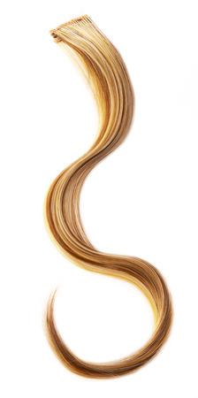 textura pelo: Pedazo de cabello rubio