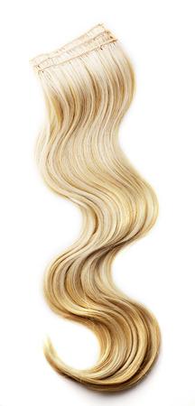 cabello: Pedazo de cabello rubio