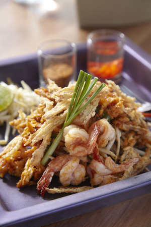 pad: Crispy fried papaya pad thai