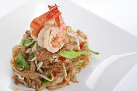 stir fried: Spicy stir fried noodle with shrimps