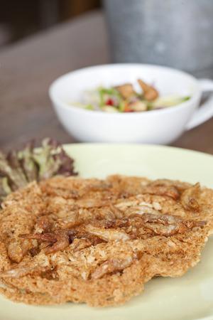mango fish: Crispy fish with mango Salad