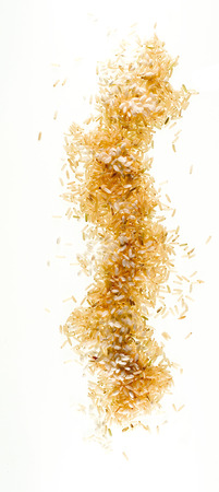 Rice grains mixed composing photo