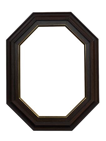 Vintage hexagon picture frame Фото со стока