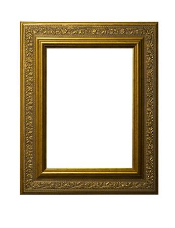 Vintage gold picture frame 스톡 콘텐츠