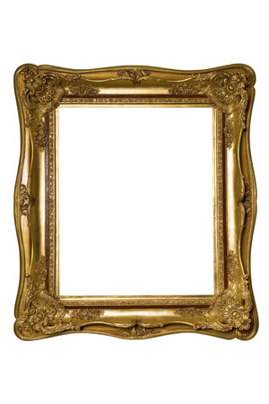 Vintage gold picture frame Фото со стока