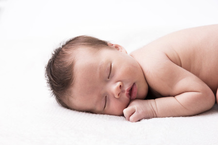 asian baby: New born baby sleeping