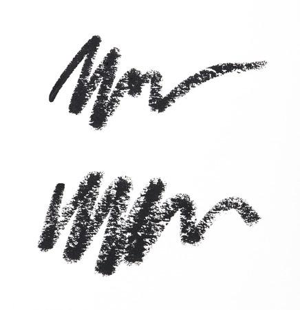 Eye liner stroke on white background